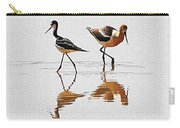 Stilt And Avocet Share The Pond Carry-all Pouch
