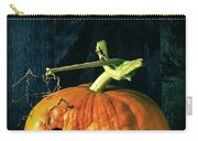Stingy Jack - Scary Halloween Pumpkin Carry-all Pouch by Edward Fielding