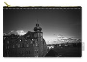 Stockholm In Dark Black And White Carry-all Pouch