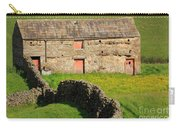 Stone Barn With Red Doors In Swaledale Yorkshire Dales Carry-all Pouch