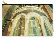 Stone Church Exterior Facade Windows At Night Carry-all Pouch