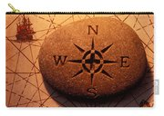 Stone Compass On Old Map Carry-all Pouch by Garry Gay