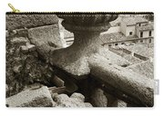 Stone Embellishments Of Jesuits Church Carry-all Pouch