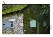Stone House With Mossy Roof Carry-all Pouch