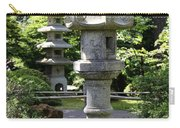 Stone Pagoda And Lantern Carry-all Pouch