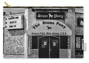 Stone Pony In Black And White Carry-all Pouch