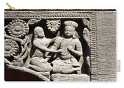 Stone Relief In Patan's Durbar Square Carry-all Pouch