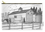 Stone Ridge Barn With Flag Carry-all Pouch