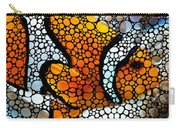 Stone Rock'd Clown Fish By Sharon Cummings Carry-all Pouch by Sharon Cummings