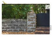 Stone Wall And Gate Carry-all Pouch