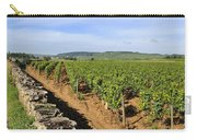 Stone Wall. Vineyard. Cote De Beaune. Burgundy. France. Europe Carry-all Pouch
