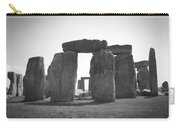 Stonehenge In Black And White Carry-all Pouch