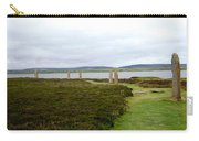 Stones In Arc Of Ring Of Brodgar Carry-all Pouch