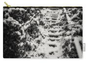 Stony Steps Covered With Snow Carry-all Pouch