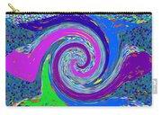 Stool Pie Chart Twirl Tornado Colorful Blue Sparkle Artistic Digital Navinjoshi Artist Created Image Carry-all Pouch