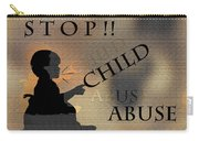Stop Child Abuse Carry-all Pouch