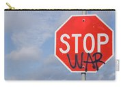 Stop War Sign Carry-all Pouch