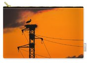 Stork At Sunset Carry-all Pouch
