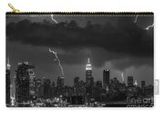 Storm Over Nyc  Carry-all Pouch by Jerry Fornarotto