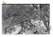 Storm Over The Cottonwood Trees - Black And White Carry-all Pouch