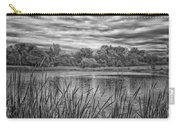 Storm Passing The Pond In Bw Carry-all Pouch