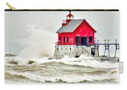 Stormy At Grand Haven Light Carry-all Pouch