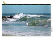Stormy Lagune - Blue Seascape Carry-all Pouch by Ben and Raisa Gertsberg