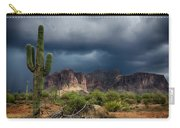 Stormy Skies Over The Superstitions Carry-all Pouch