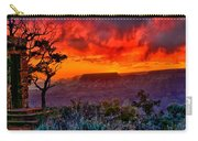 Stormy Sunset At The Watchtower Carry-all Pouch