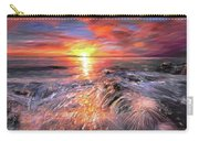 Stormy Sunset At Water's Edge Carry-all Pouch