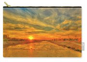 Stormy Sunset Over Santa Ana River Carry-all Pouch