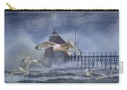 Stormy Weather At The Grand Haven Lighthouse Carry-all Pouch