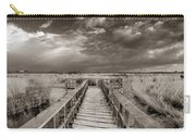 Stormy Weather At The Lake Vintage Carry-all Pouch