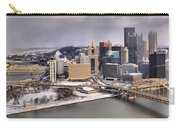 Stormy Winter Skies Over The Point Carry-all Pouch
