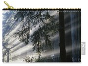 Stout Grove Redwoods With Sunrays Breaking Through Fog Carry-all Pouch