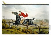 Straight Through The Fence From Qualified Horses And Unqualified Riders Carry-all Pouch