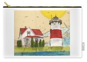 Stratford Pt Lighthouse Ct Nautical Chart Map Art Carry-all Pouch
