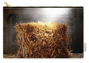 Straw Bale In Old Barn Carry-all Pouch