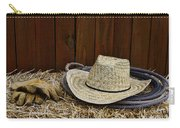 Straw Hat  On  Hay Carry-all Pouch