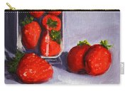 Strawberries And Glass Carry-all Pouch