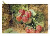 Strawberries And Peas Carry-all Pouch by John Sherrin