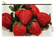 Strawberries Expressive Brushstrokes Carry-all Pouch
