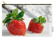 Strawberries On Ice  Carry-all Pouch