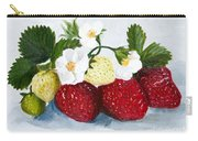 Strawberries With Blossoms Carry-all Pouch
