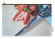 Strawberries With Knife Carry-all Pouch