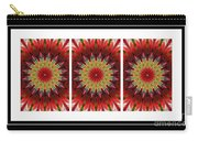 Strawberry Explosion Triptych - Kaleidoscope Carry-all Pouch