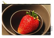 Strawberry In Nested Bowls Carry-all Pouch