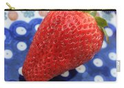 Strawberry On Blue Plate Carry-all Pouch