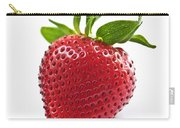 Strawberry On White Background Carry-all Pouch by Elena Elisseeva