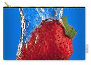 Strawberry Slam Dunk Carry-all Pouch by Susan Candelario